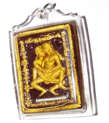 This is the ongk kroo special edition of the In Koo Plerng amulet made and consecrated by Luang Por Somsak Gosalo of Samnak Songk Tham Khao Bua Noi, Kanchanaburi, in the year 2555 BE.