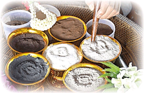 Empowerment of the sacred powders, used in the making of the Amulets