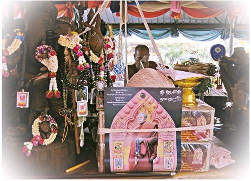 Kroo Ba Krissana Intawano Pra Khun Phaen and Taep Jamlaeng Butterfly King Amulet Putta Pisek