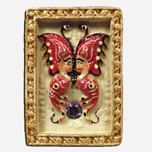 Taep Bin Pim Lek (miniatures version) - Hand painted amulet