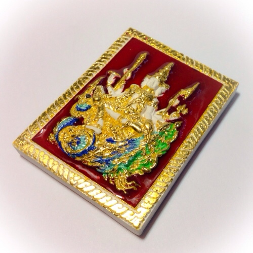 Rel glazed enamel Muan Sarn Sacred Powder Brahma Amulet
