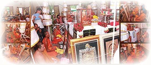 Blessing ceremony Pra Somdej Wat Rakang Kositaram