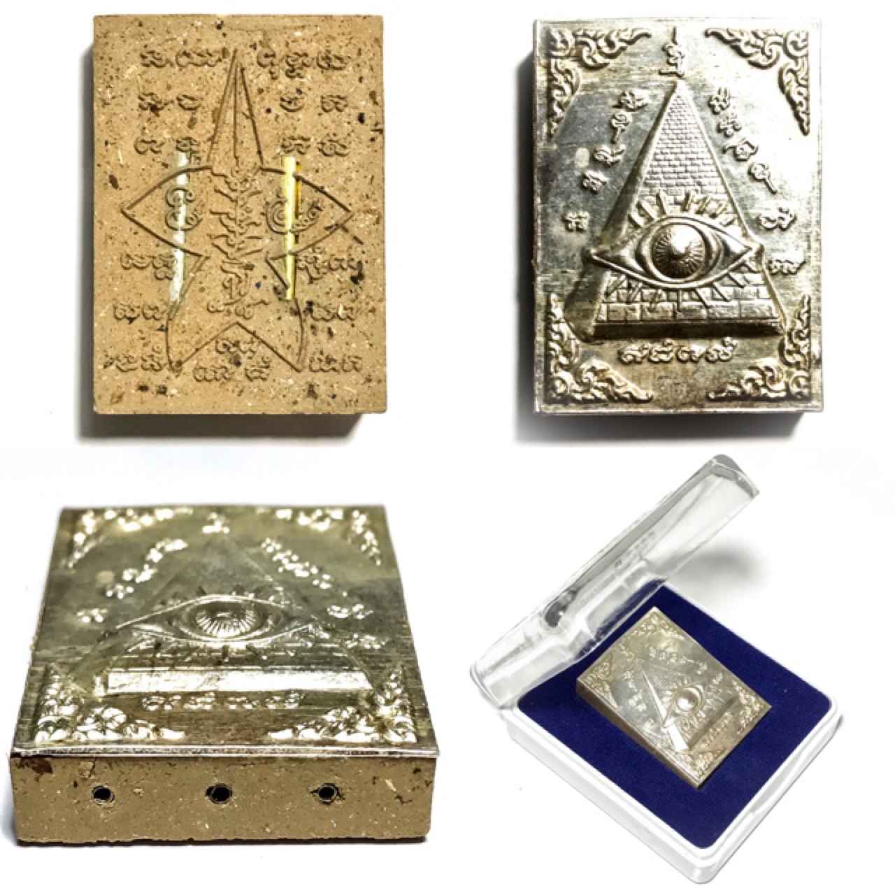 Duang Ta Arahant Eye in Pyramid Amulet