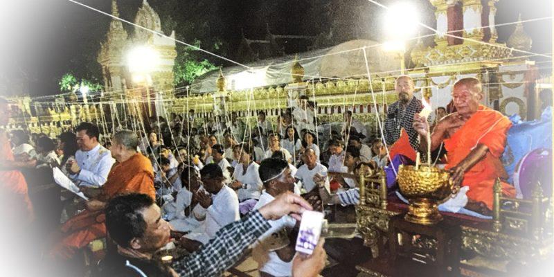 Buddha Abhiseka with Luang Phu Khaeg Wat Pratat Panom